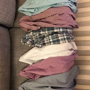 Six J Crew Button Down Shirts